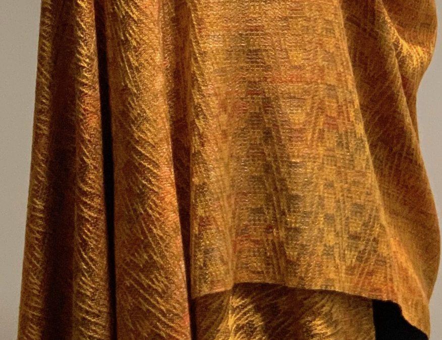 Autumn Leaves Silk Shawl (Rectangular)