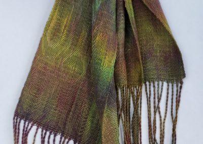Line Silk Woven Scarf (2)