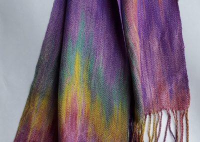 Line Silk Woven Scarf (3)