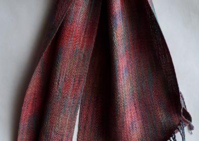 Line Silk Woven Scarf (4)