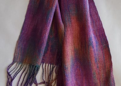 Line Silk Woven Scarf (5)