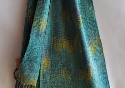 Line Silk Woven Scarf (6)