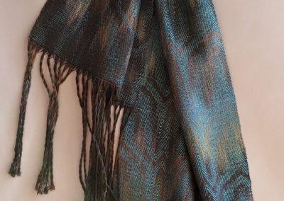 Line Silk Woven Scarf (7)