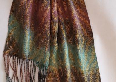 Line Silk Woven Scarf (8)