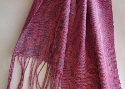 Line Silk Woven Scarf (9)