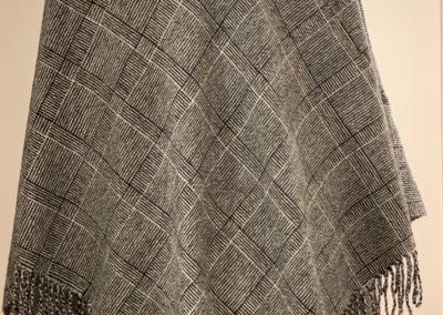 Log Cabin Triangular Shawl