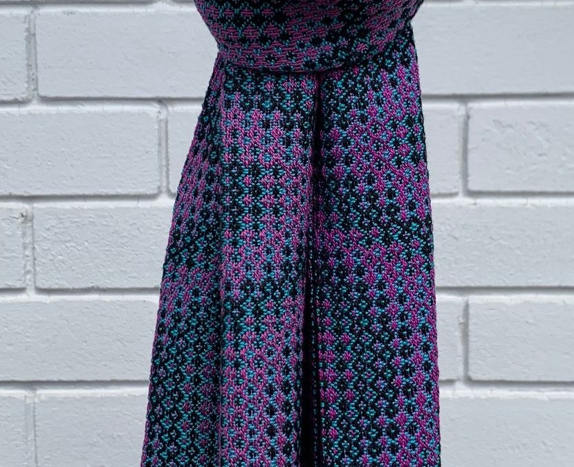 Colourful Handwoven Cotton Scarf (2)