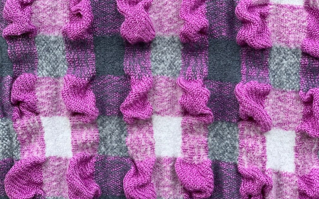 Violet and Grey Bubble Scarf