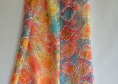 Dyed Shibori Scarves (1)