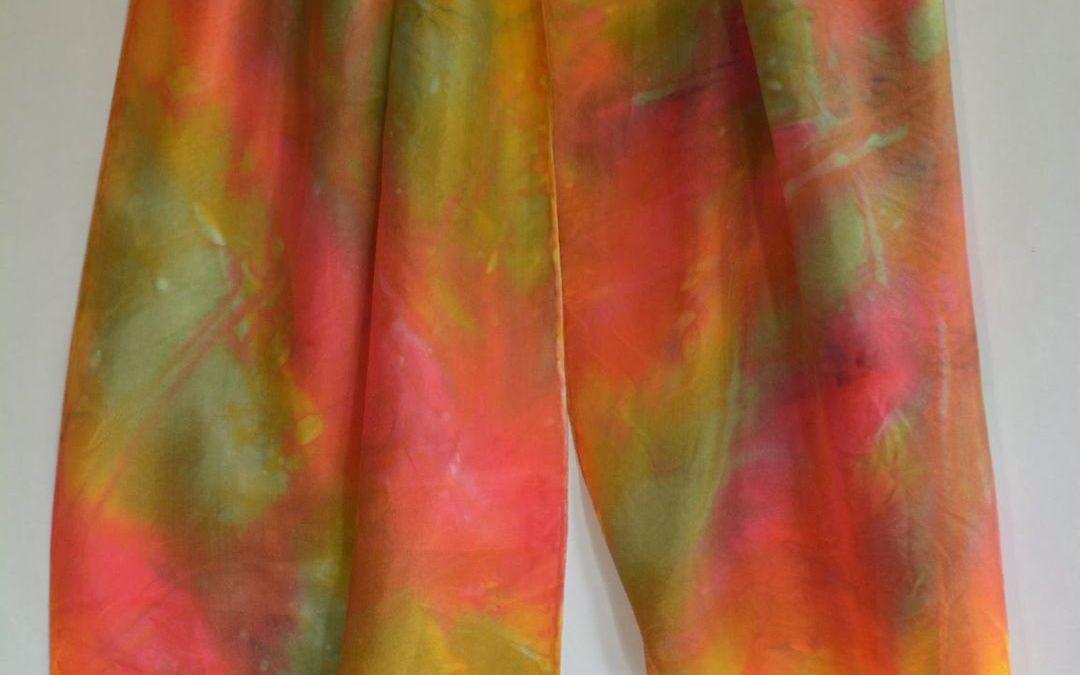 Dyed Shibori Scarves (10)
