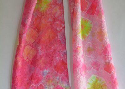 Dyed Shibori Scarves (2)