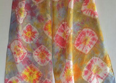 Dyed Shibori Scarves (4)