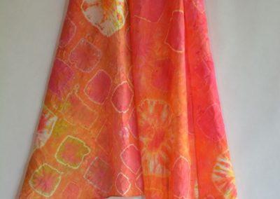Dyed Shibori Scarves (5)