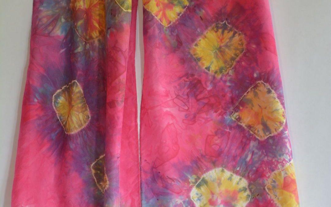 Dyed Shibori Scarves (8)