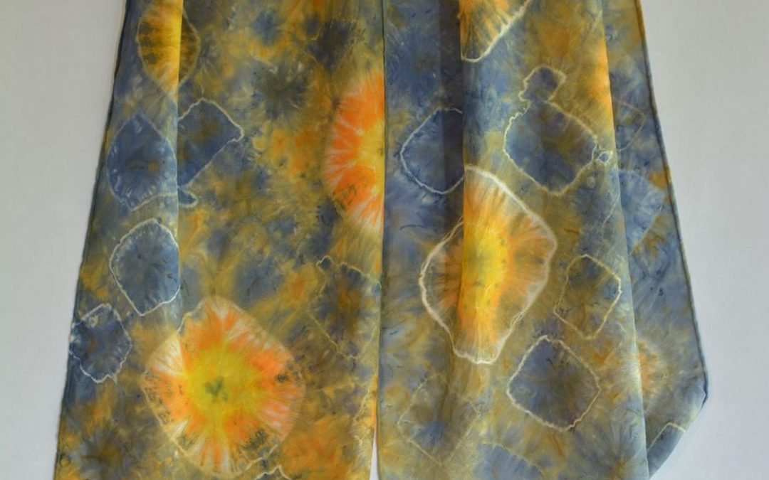 Dyed Shibori Scarves (9)