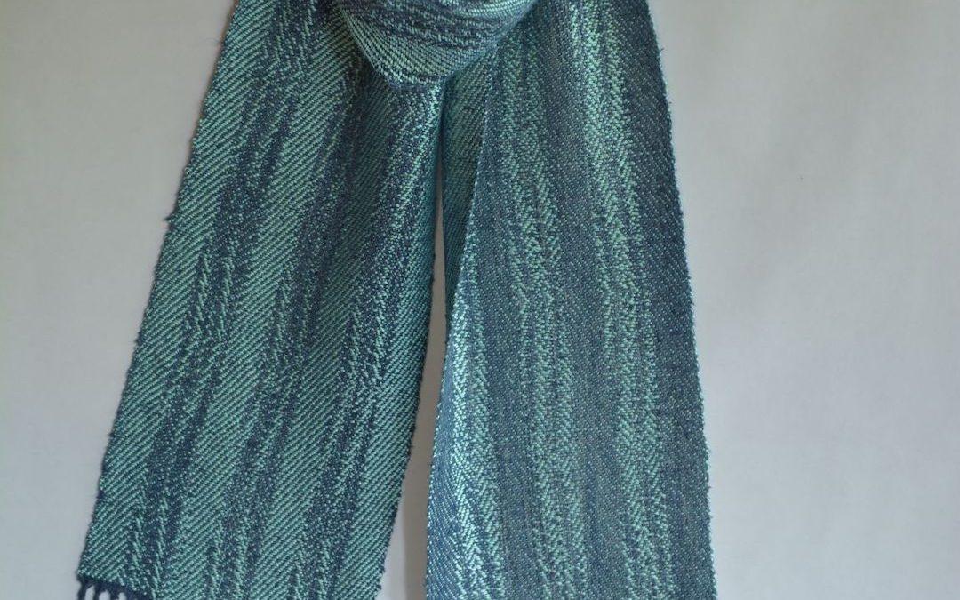 Noil Silk Woven Scarf (7)